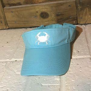 light blue maryland blue crab visor